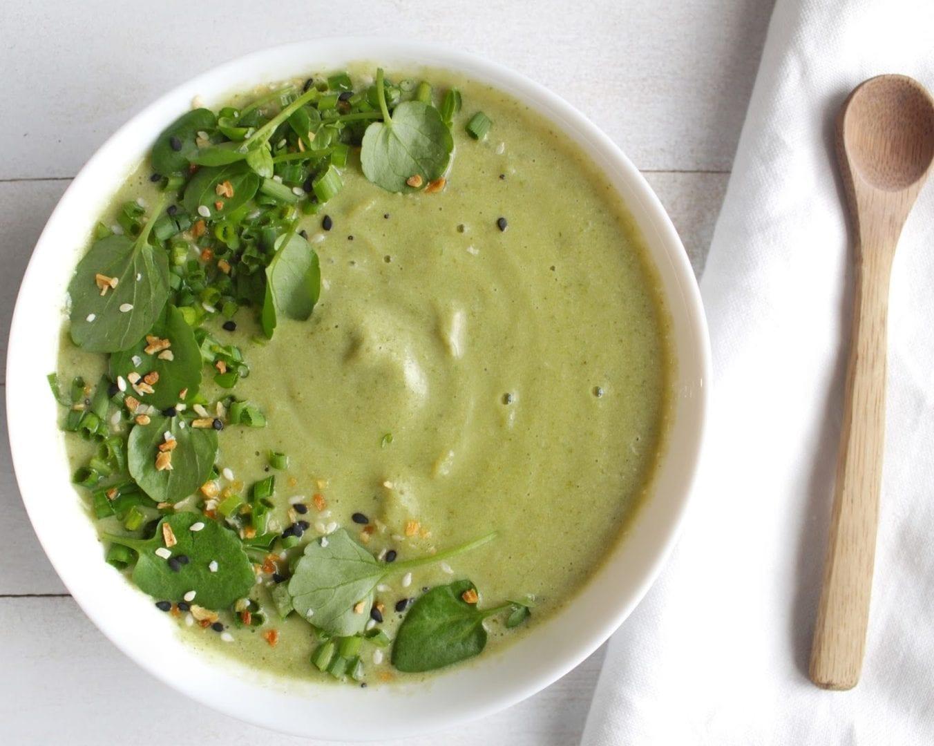 st. patricks day spinach soup
