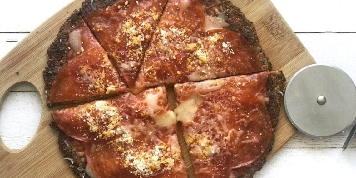Keto Cauliflower pizza crust