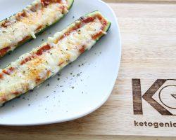 Keto Zucchini Pizza Boats