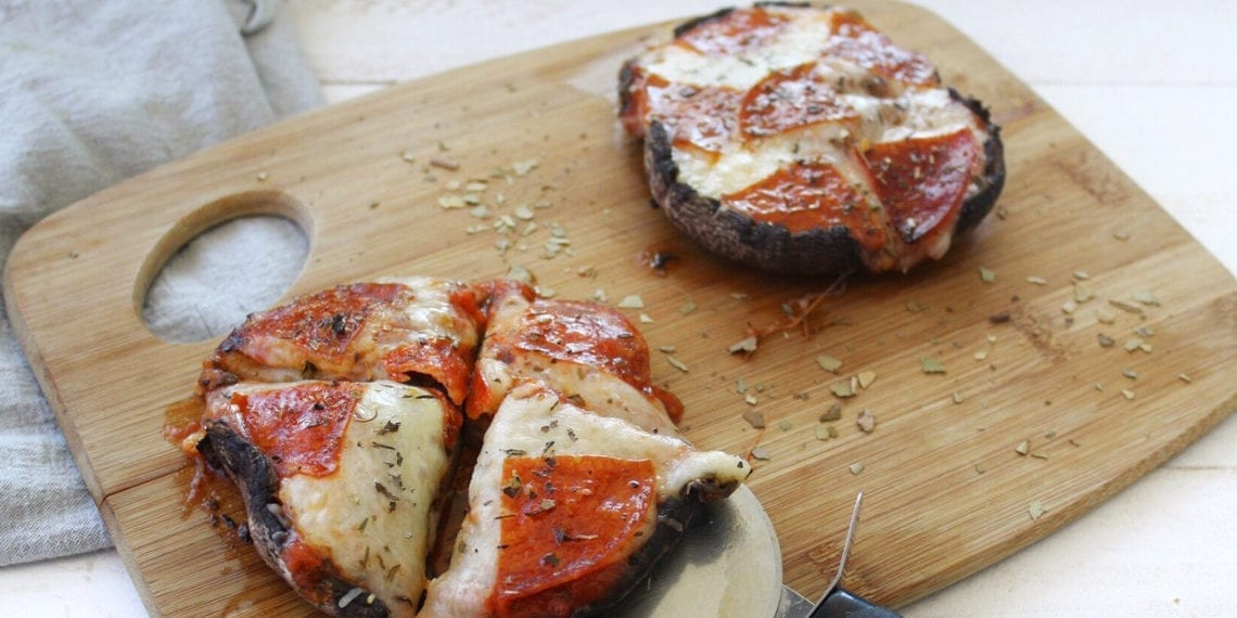 Keto Portobello Mushroom Pizza