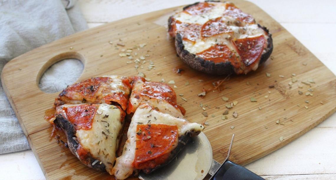 Keto Portobello Mushroom Pizza Ketogenic Com