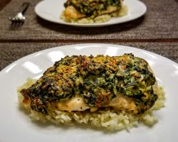 Keto Cheesy Spinach Stuffed Chicken