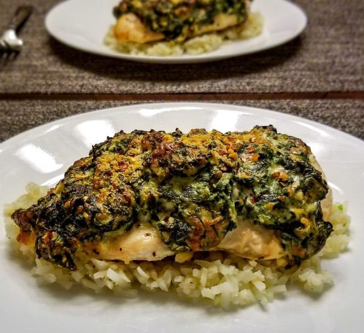 Keto Cheesy Spinach Stuffed Chicken