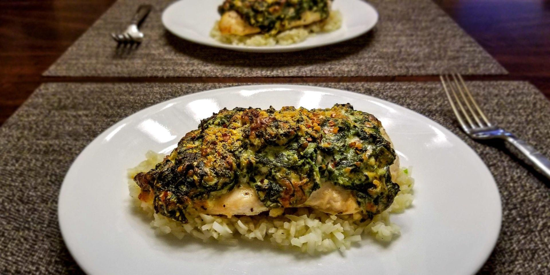 cheesy stuffed spinach chicken