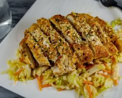 Keto Asian Baked Chicken with Pickled Slaw
