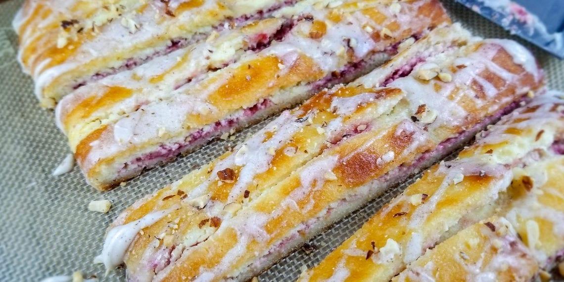 Keto Blackberry Cream Cheese Danish