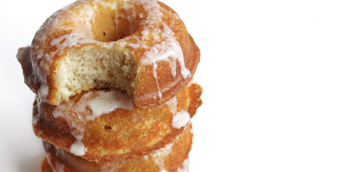 keto coconut butter glazed donuts
