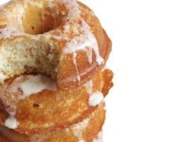 Keto Coconut Butter Glazed Doughnuts
