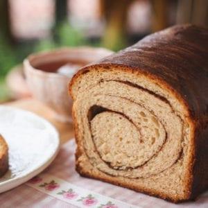 benefits of flax seed- cinnamon swirl bread