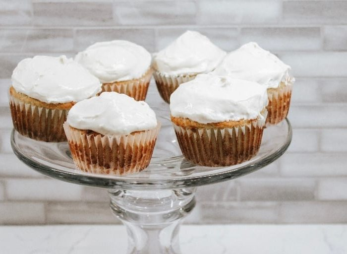 keto maple cupcake