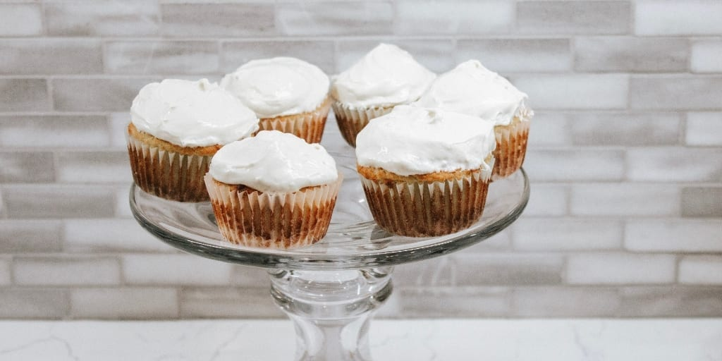 keto maple cupcake
