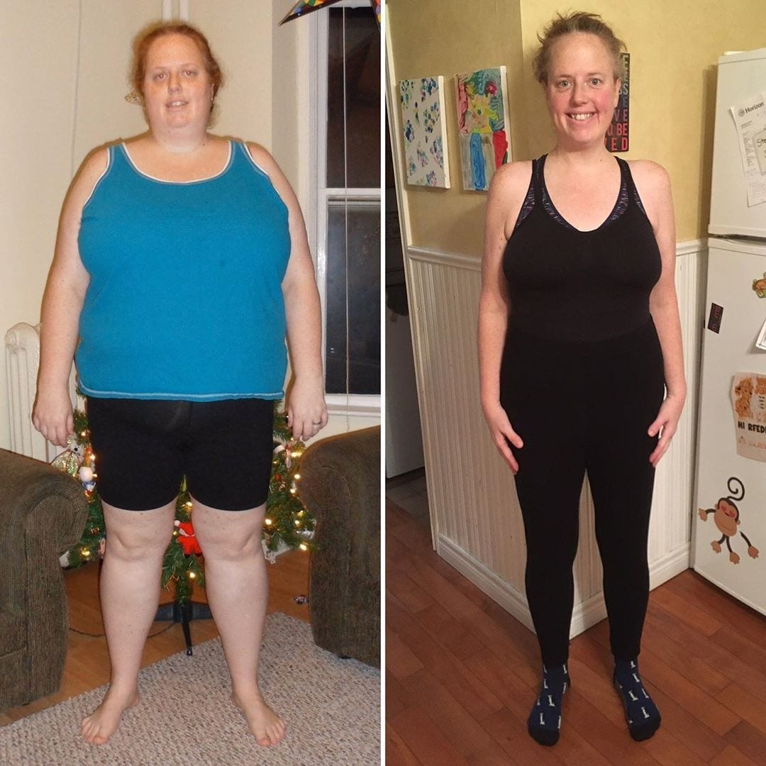 stephanies 100 pound weight loss transformation