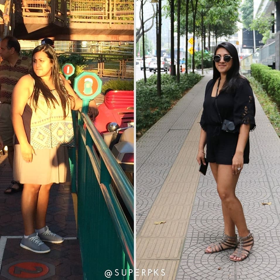 preeth (@ superpks) and her keto weight loss transformation