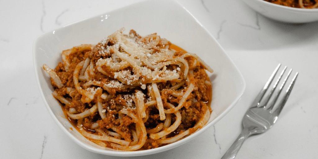 vegetarian keto palmini spaghetti