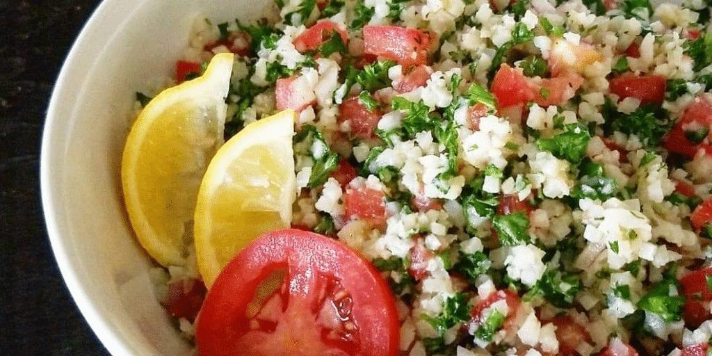 keto cauliflower rice tabbouleh