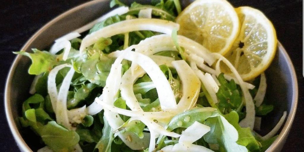 Keto Fennel Arugula Salad with Lemon Vinaigrette