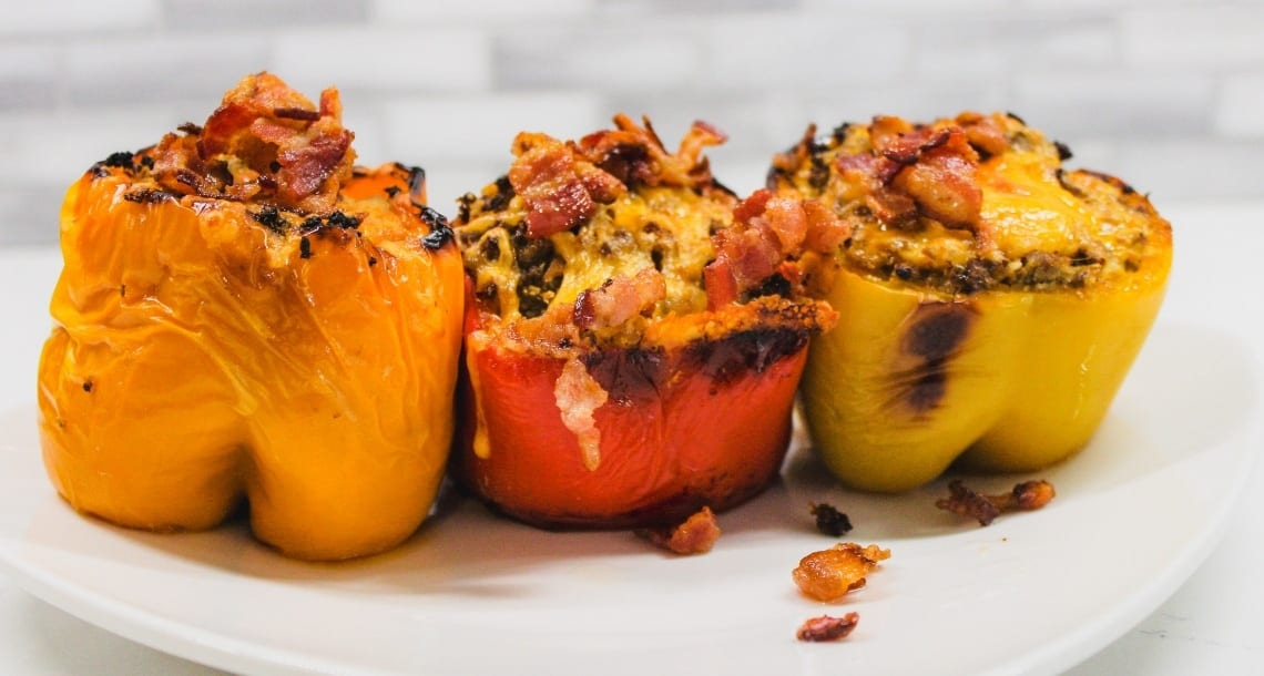 keto stuffed peppers father's day keto recipes