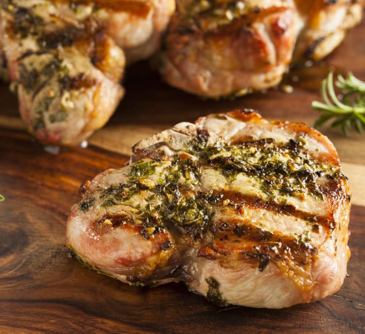 Keto Delicious Grilled Pork Chops with Herbs