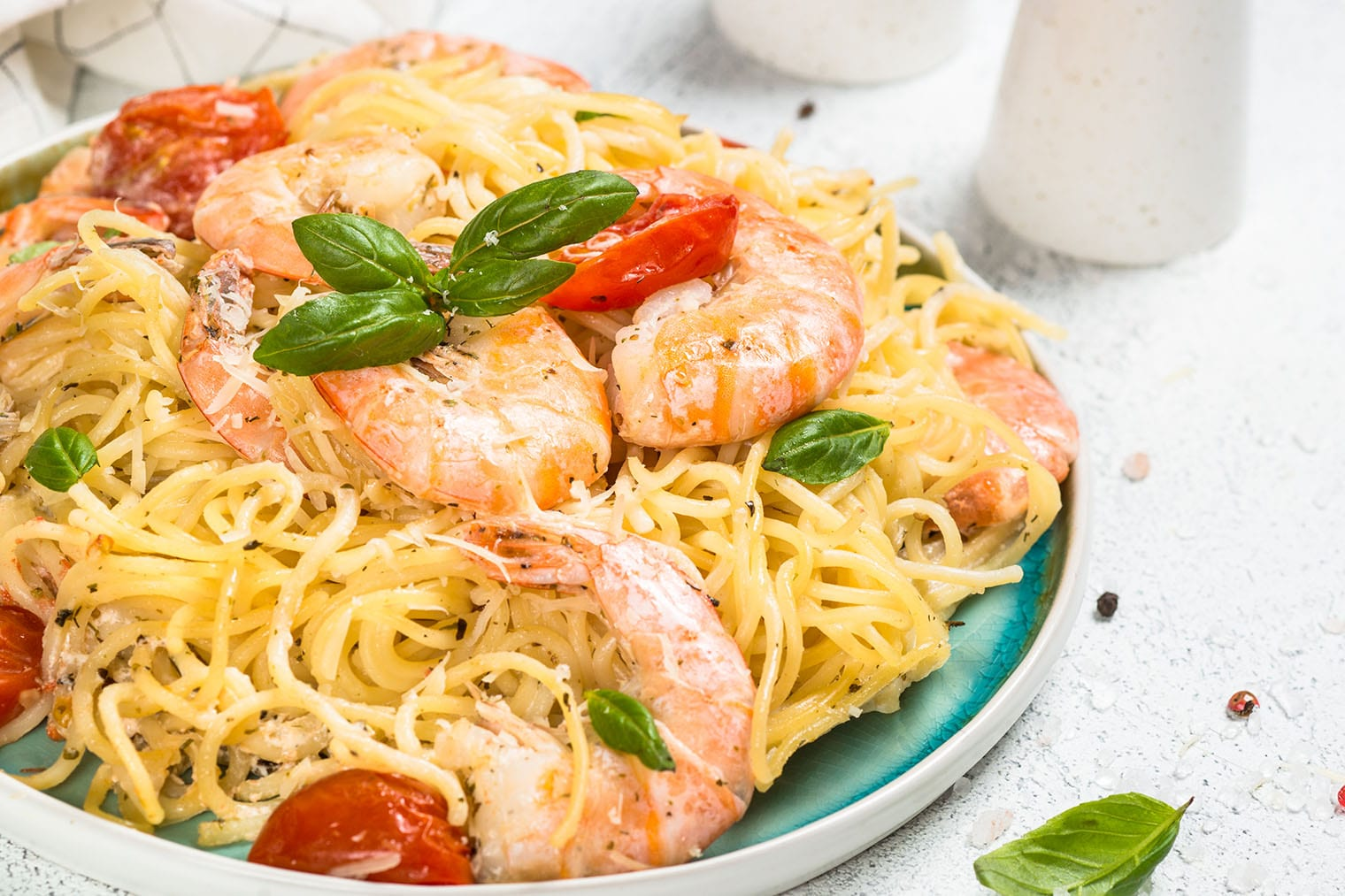 Keto Seafood Medley with Pasta & Alfredo Sauce