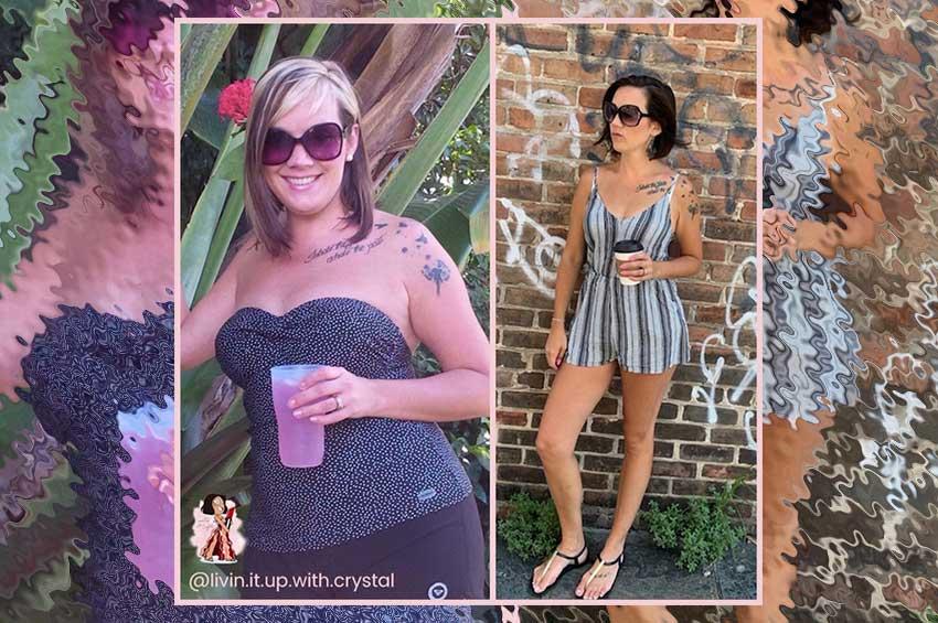 keto weight loss transformation crystal traux