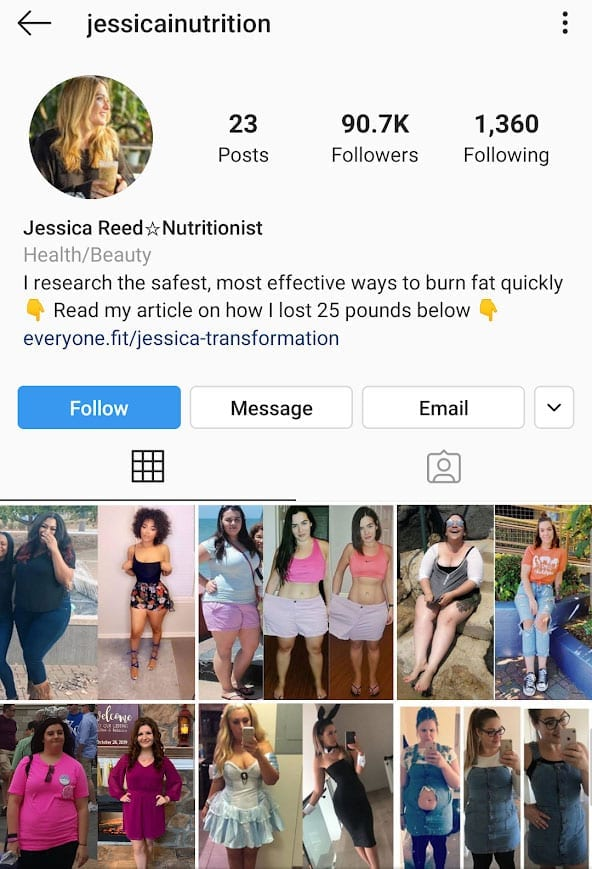 keto scam pills fake profile