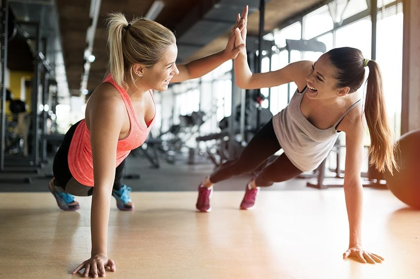 women exercising holiday workout