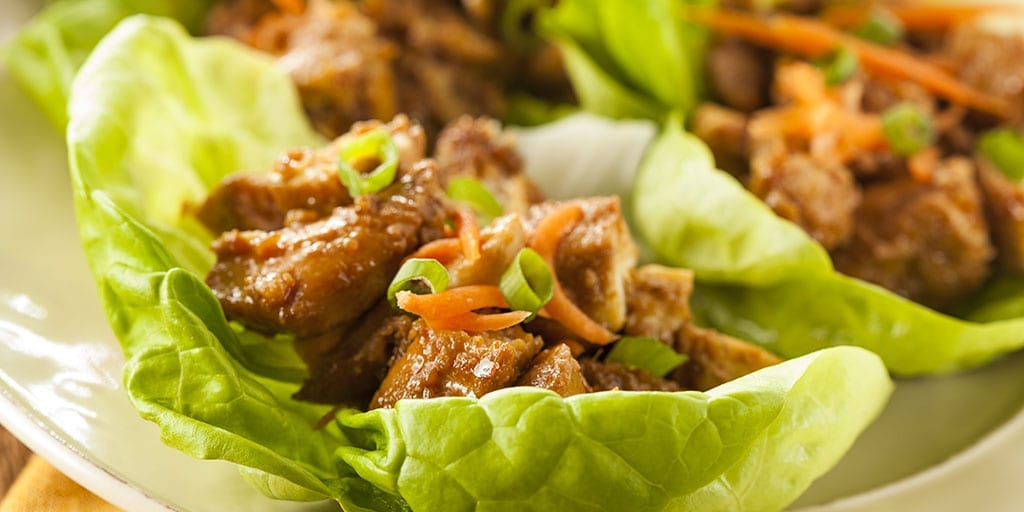 Keto Asian Chicken Lettuce Wraps