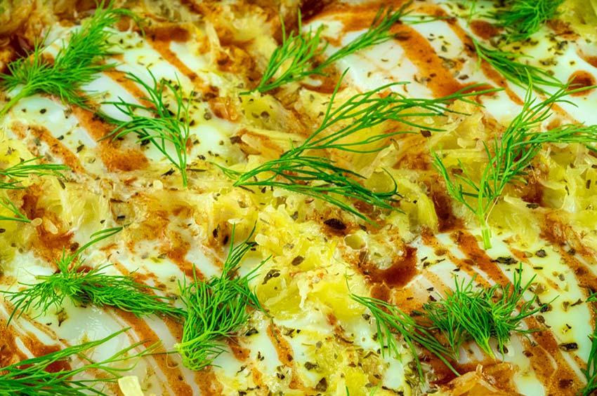 Spaghetti Squash Egg Skillet w/ Chipotle & Dill