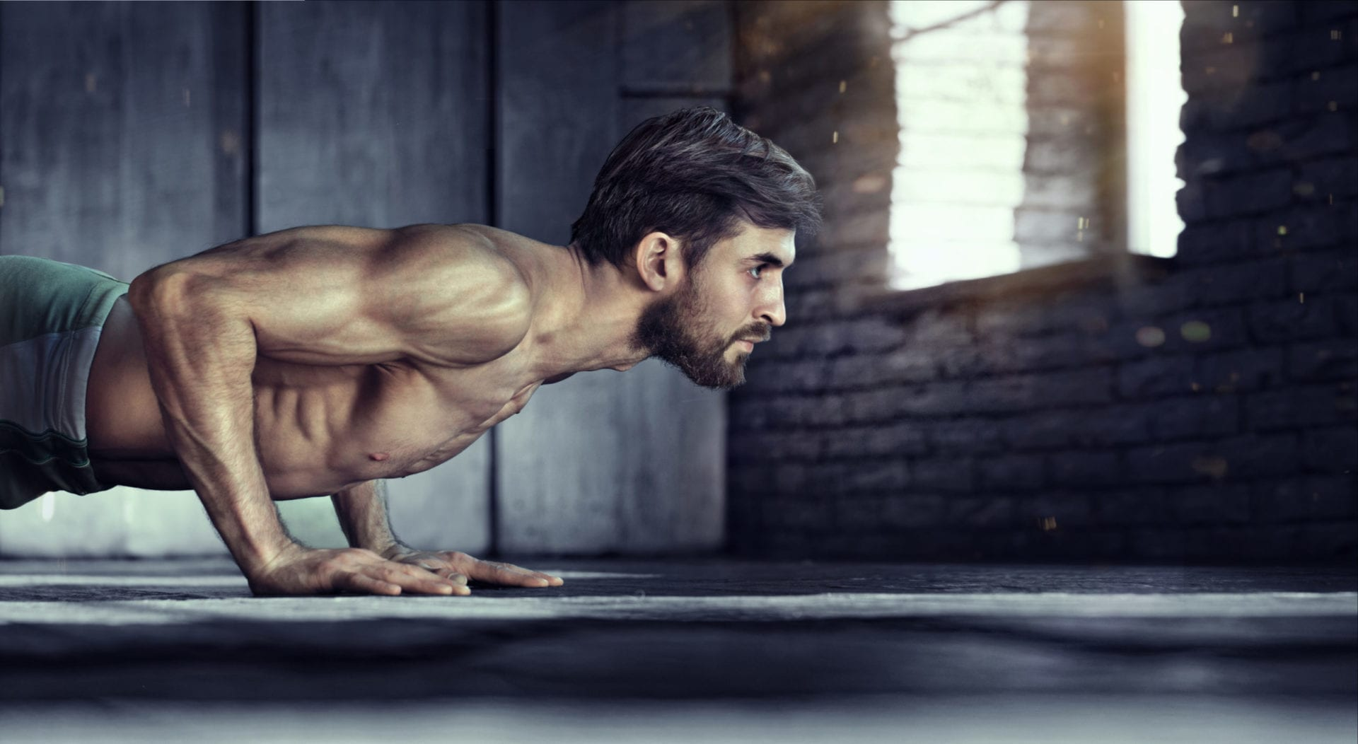 Man exercising fasted