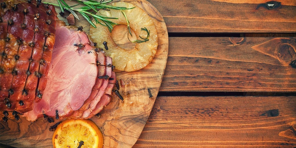 Keto Maple Glazed Ham