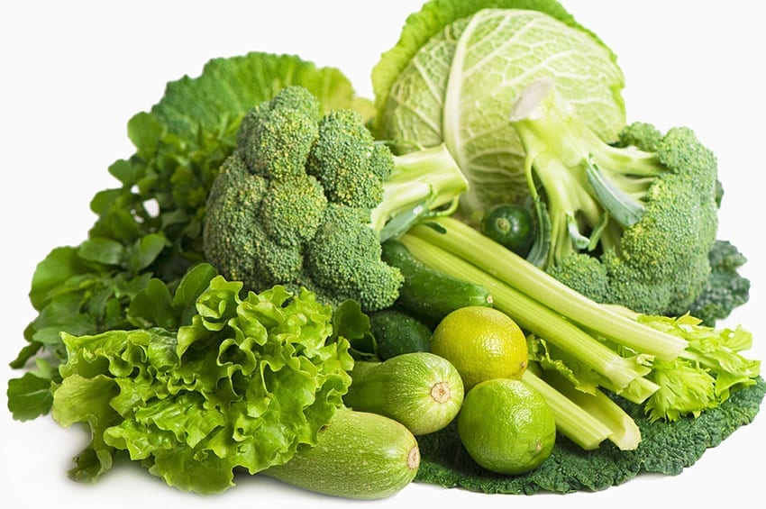 green vegetables and the keto diet