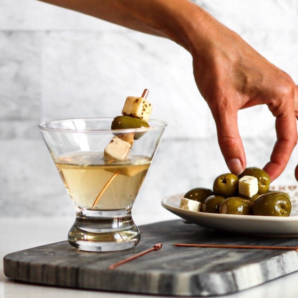 cheese olive keto martini