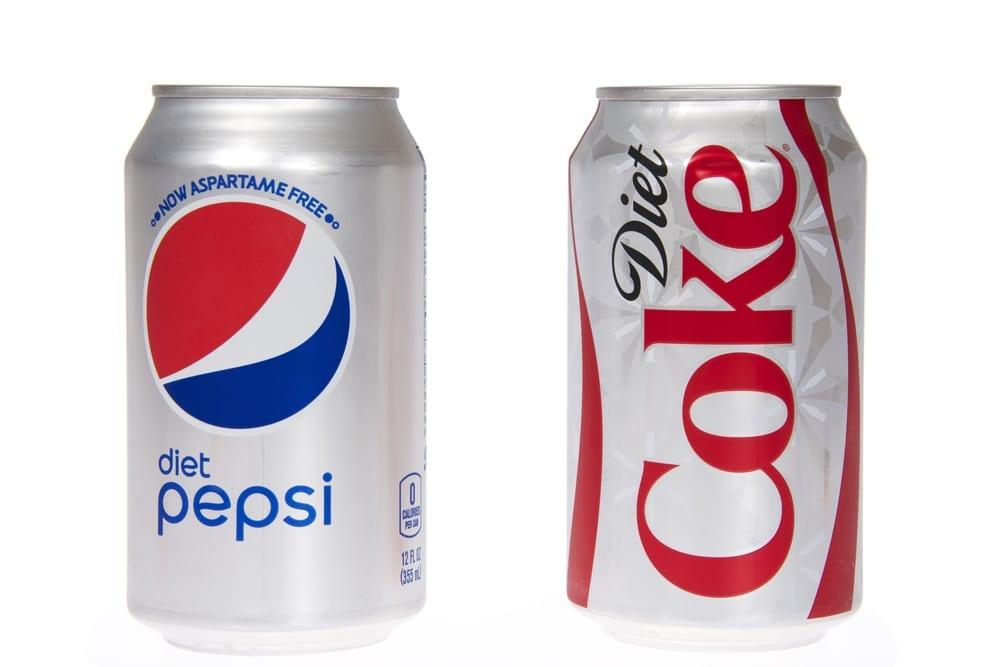 sugar-free drinks diet soda
