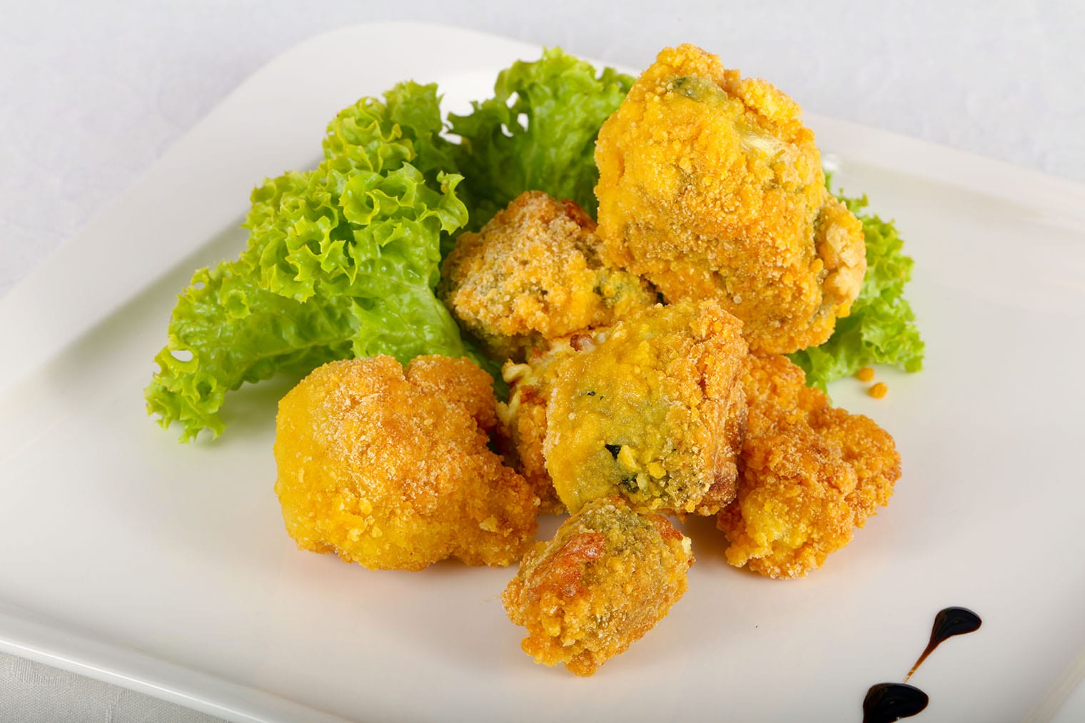 Keto Broccoli Bites with Spicy Mustard