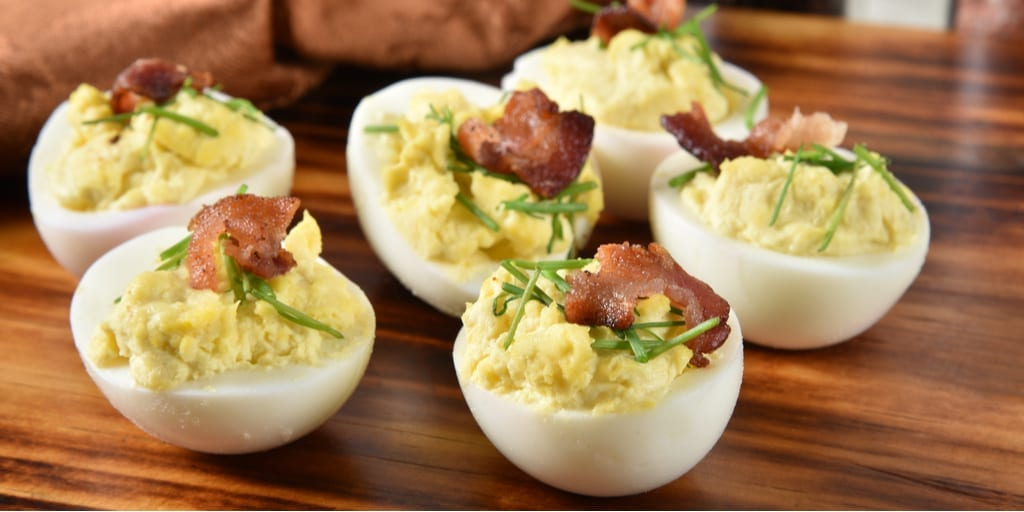 Classic Keto Deviled Eggs with Bacon Crumbles