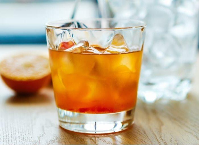 keto peach tea bourbon