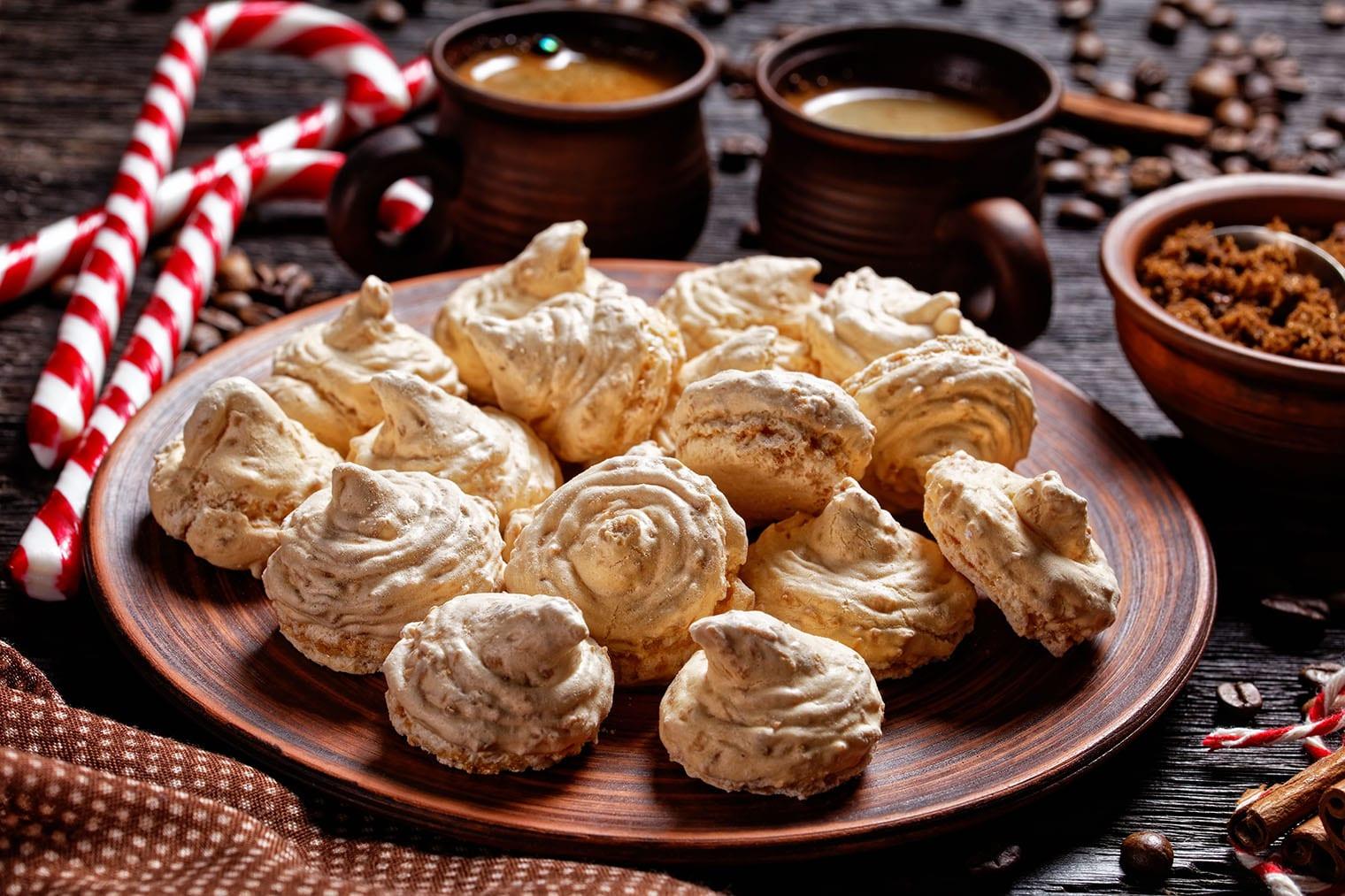 Keto Pumpkin Cookies (Pumpkin Spice Meringue Cookies)