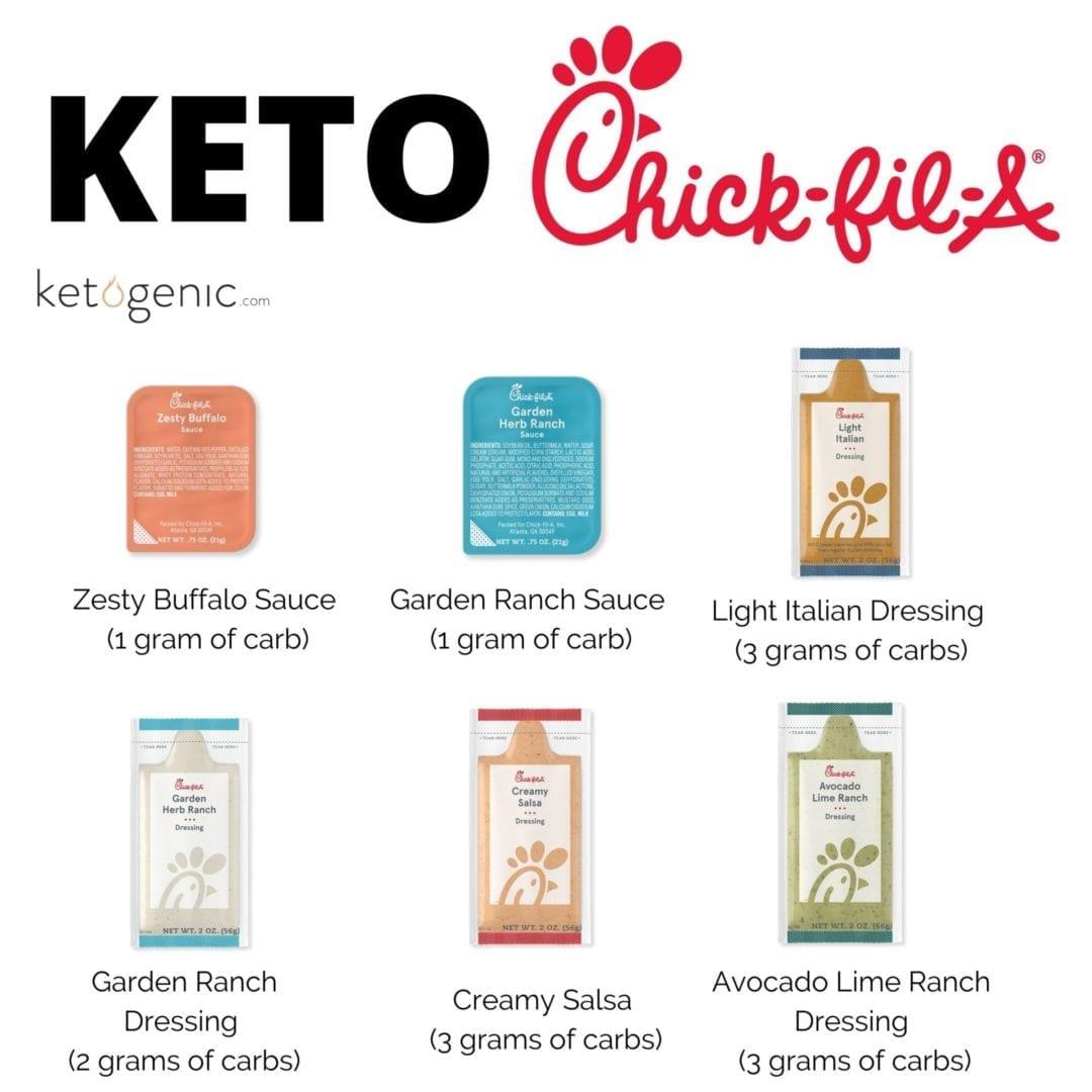 keto at chick fil a condiments