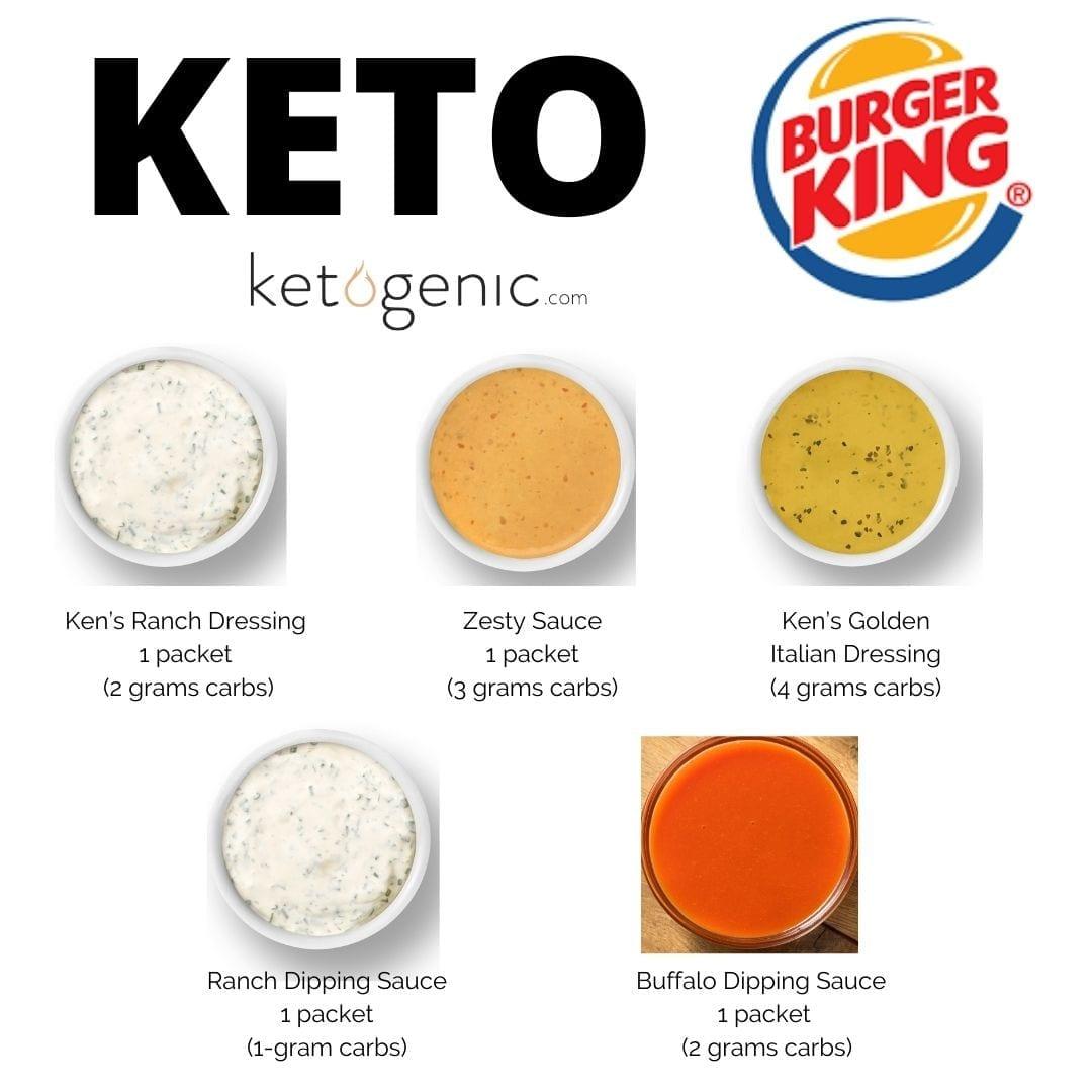 keto condiments at burger king