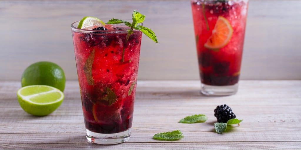 Keto Mojito With Fresh Berries