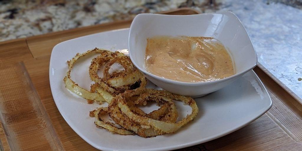 Keto Onion Rings (Air Fryer Recipe)