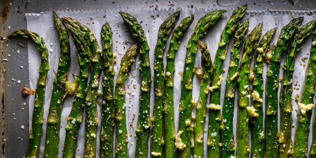 Roasted Asparagus with Parmesan and Himalayan Salt