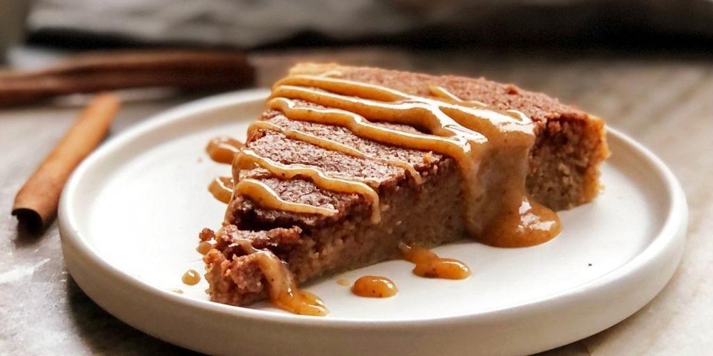 Cinnamon Bun Cake with Caramel Sauce