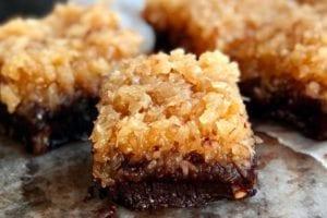 coconuts on keto- keto chocolate fudge tosca