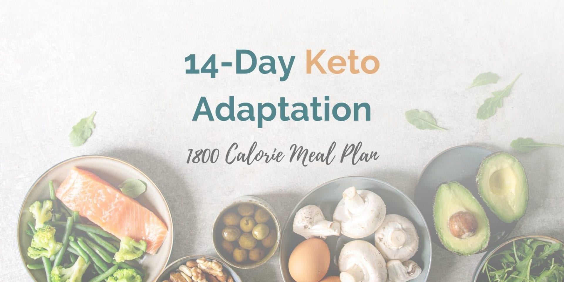 1,800 Calorie Keto Adaptation Meal Plan