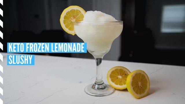 Keto Frozen Lemonade Slushy