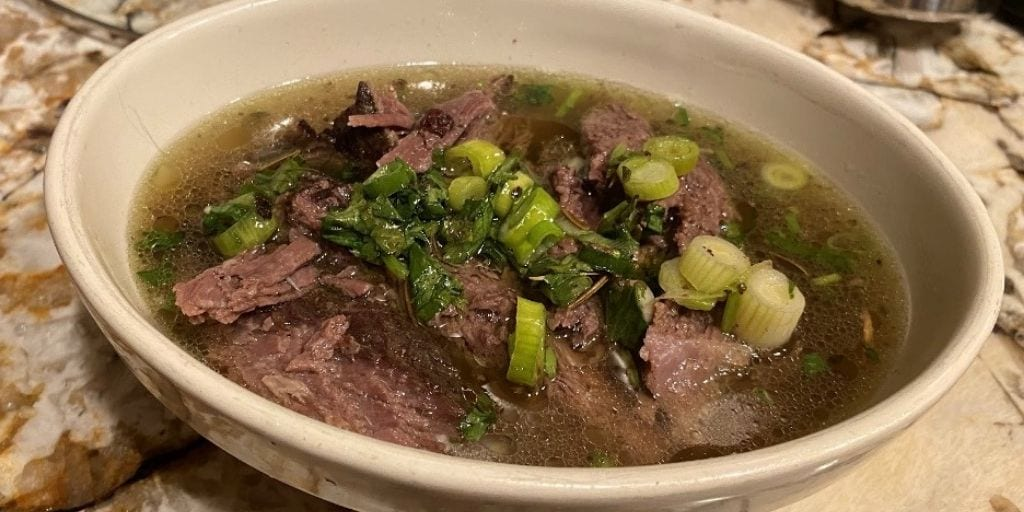 Keto Roast Beef with Green Onions