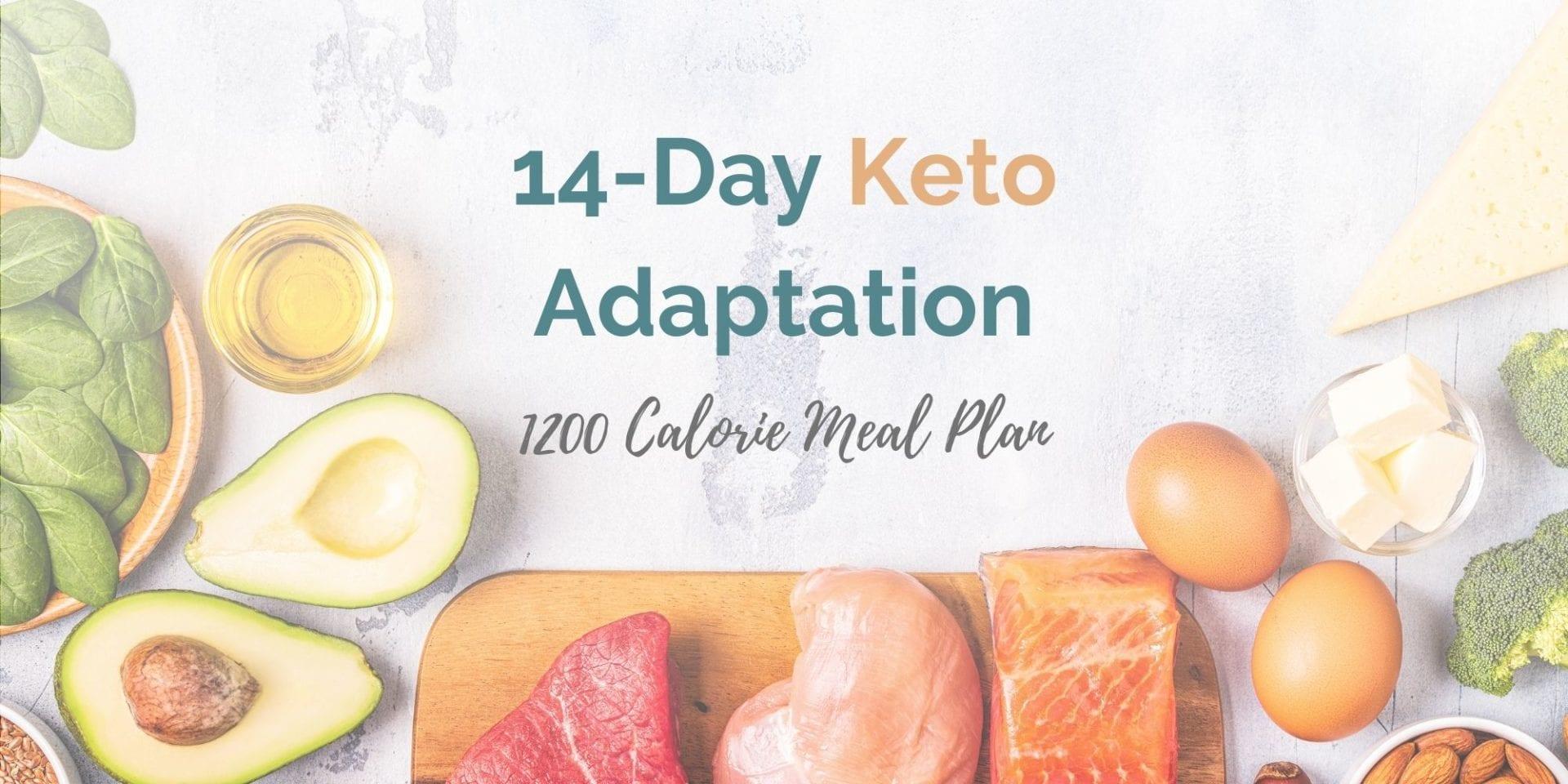 1,200 Calorie 14-Day Keto Adaptation Program