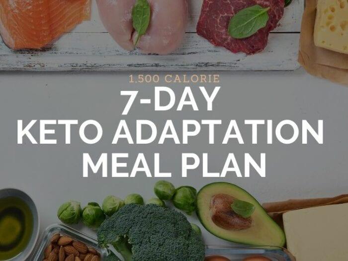 1500 calorie keto adaptation plan