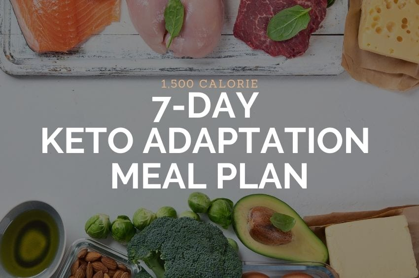 1,500 Calorie 7-Day Adaptation Meal Plan
